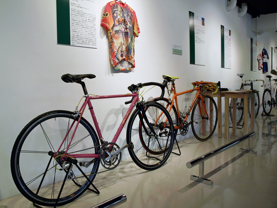 自転車博覧会で展示されたキヨシローの愛車