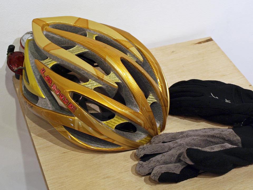 キヨシローのヘルメット
