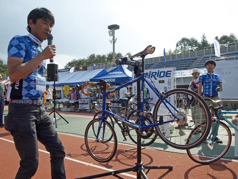 計量バイクコンテストでGIOS FELUCAを計測