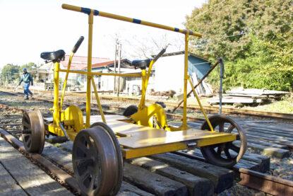 ハンドメイドの軌道自転車