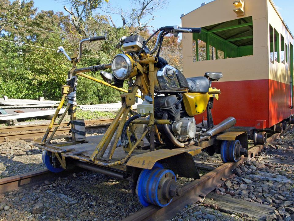 小湊鐵道の軌道バイク