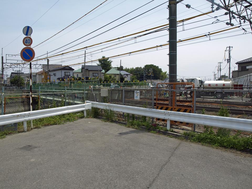 高崎線の線路で行き止まり