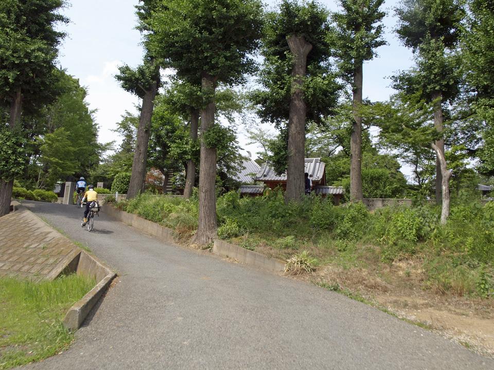 泉福寺の前で県央ふれあいんぐロードへ