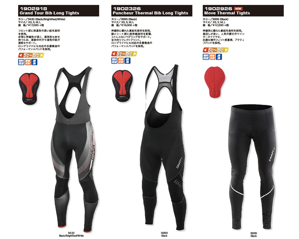 CRAFT Puncheur Thermal Bib Long Tights