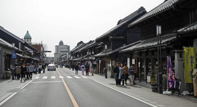 小江戸川越の蔵造りの町並み