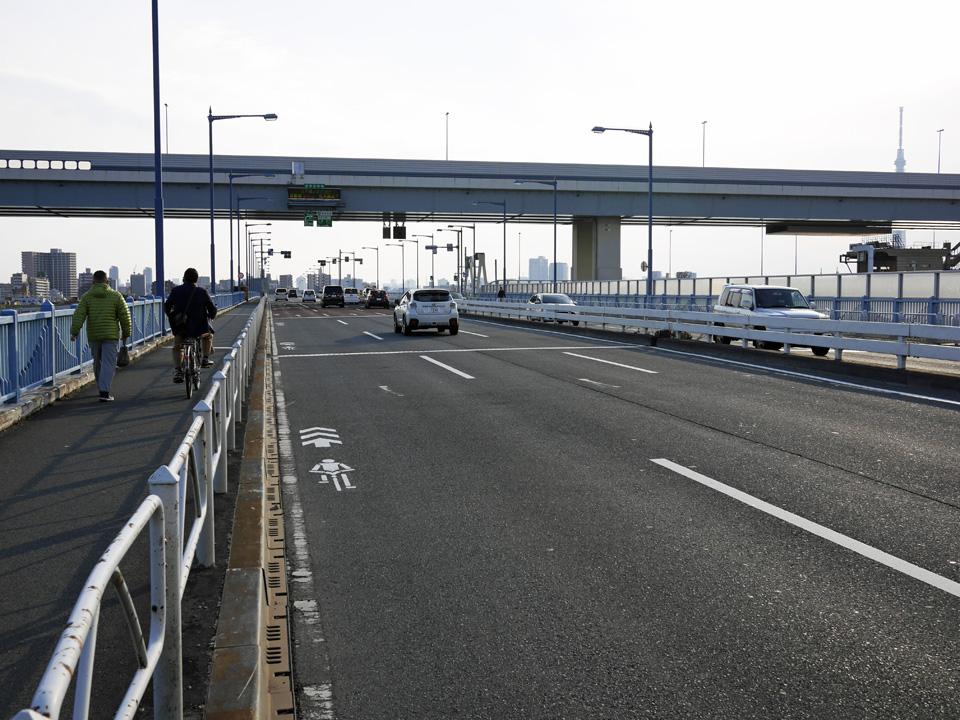 平井大橋で中川と荒川を渡河