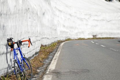 雪の回廊でGIOS FELUCAを撮影
