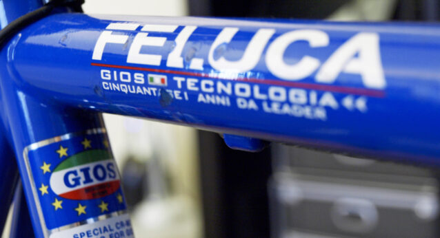 FELUCAのフレームの傷をタッチアップ
