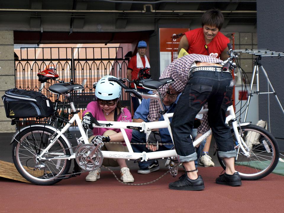 MINI LOVE メディア対抗クリテリウム 自転車日和 西さん 小野寺さん