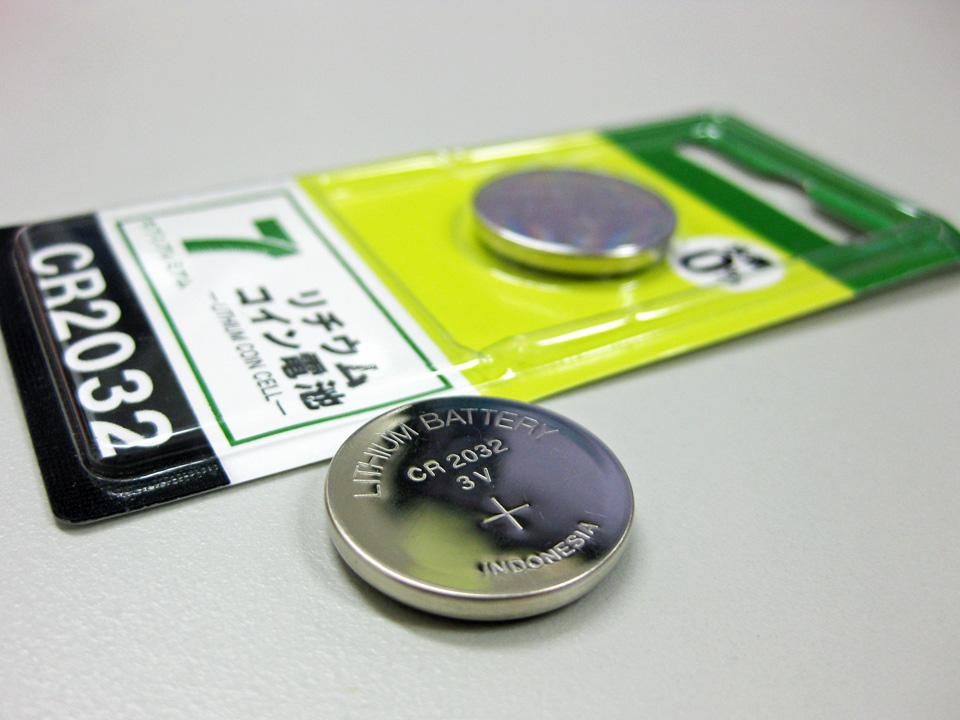 コイン電池の規格はCR2032