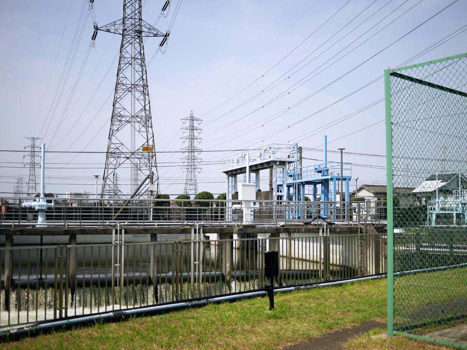 東村山浄水場の接合井