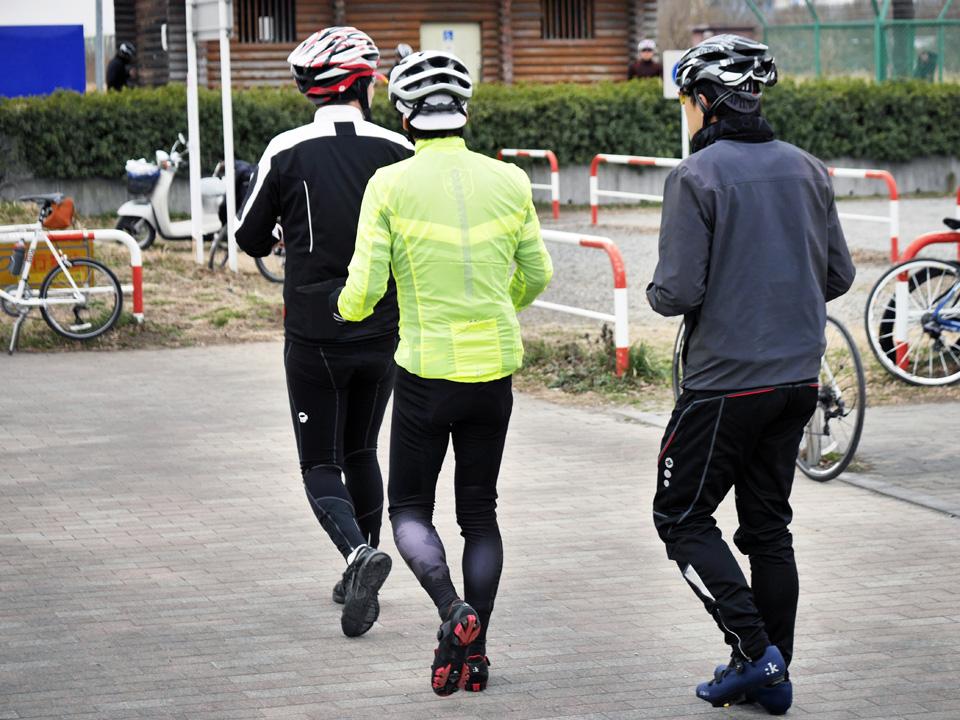 まずは自転車に乗らずにトレインを体感