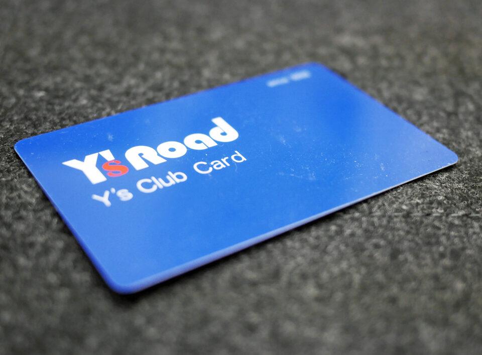 ワイズロードのポイントカード「Y's Club Card」
