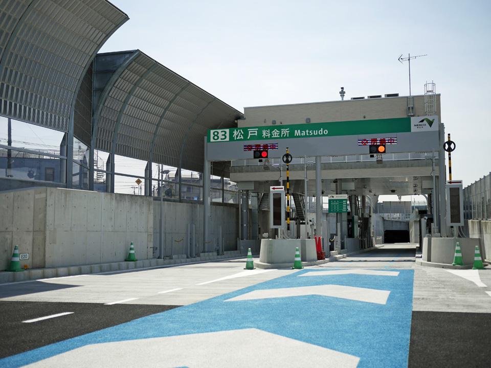 松戸料金所からトンネルに入ってGAIKANサイクリング
