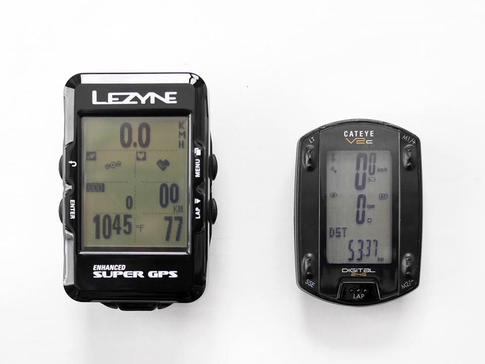 LEZYNE SUPER GPS と CATEYE V2c 比較