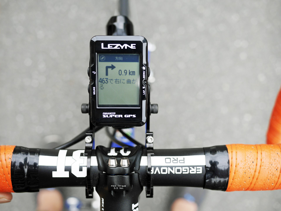 LEZYNE SUPER GPS のナビゲーションを試す