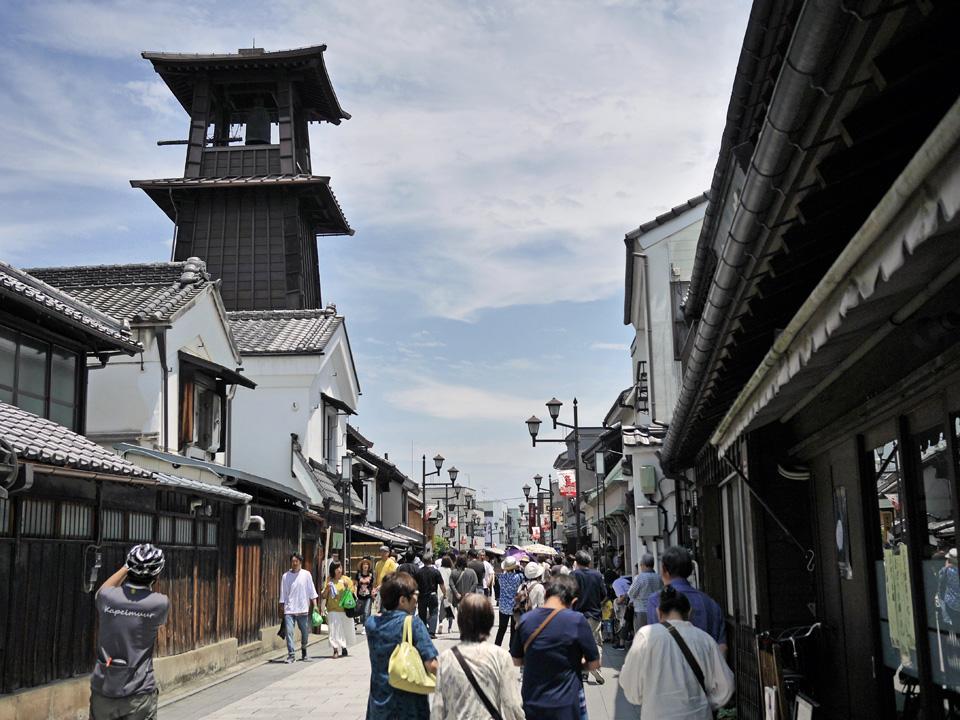 小江戸・川越の時の鐘を見物