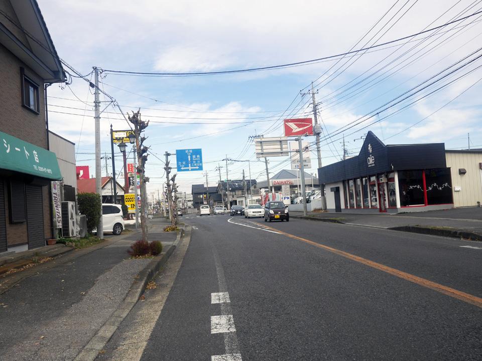 利根川を渡って県道17号で茨城県境町を北上