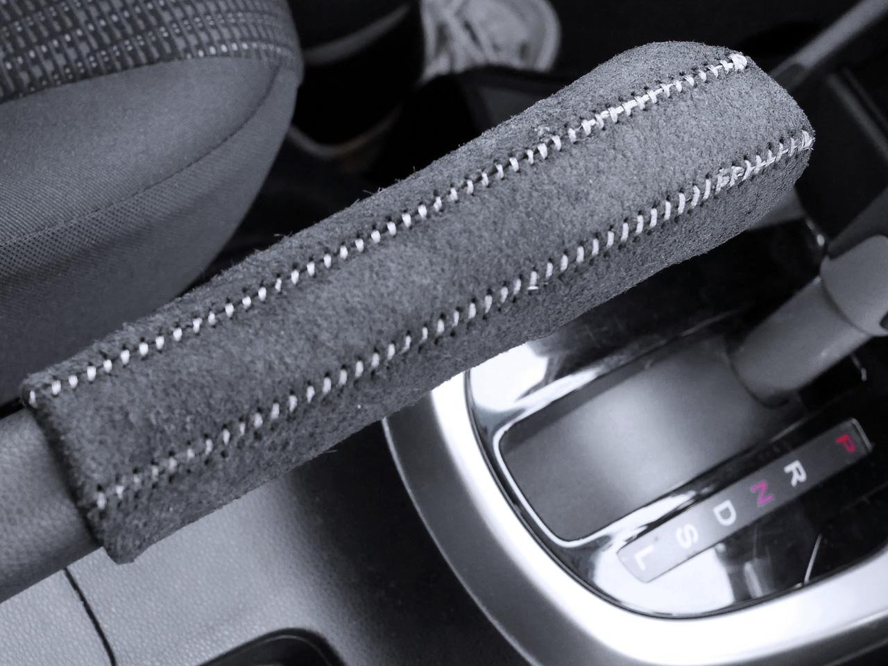 フィット3にサイドブレーキ本革巻きDIYキットを装着