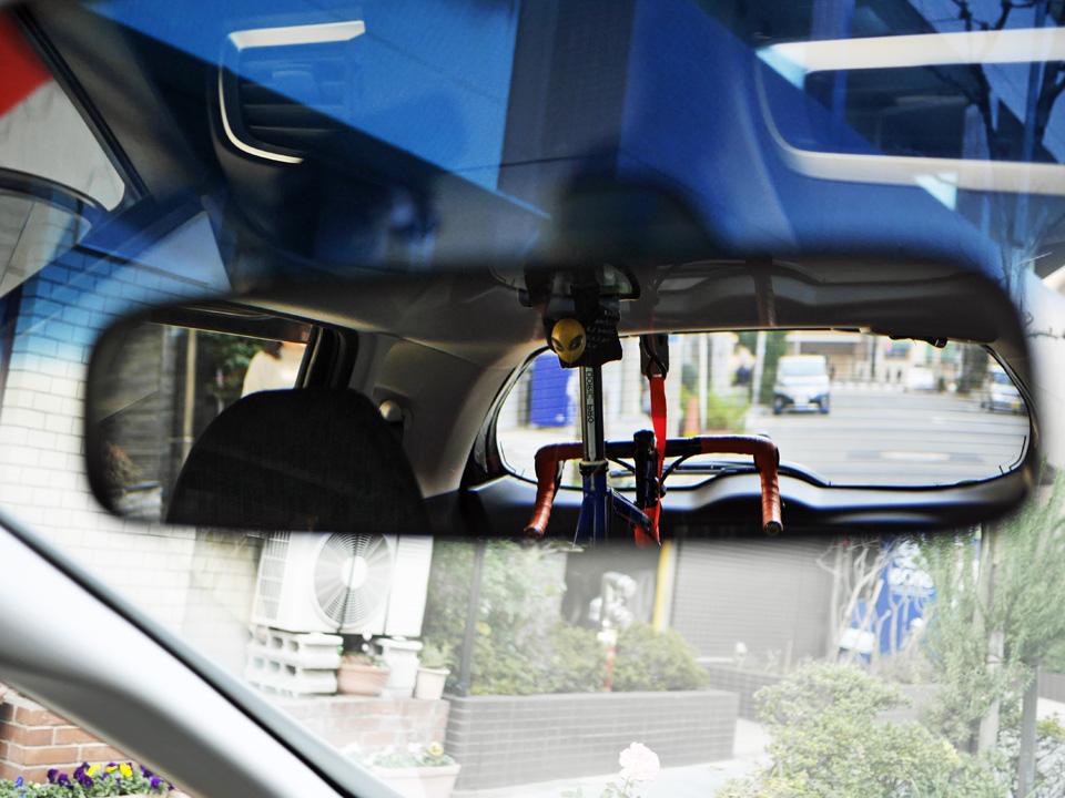 GIOS FELUCAを車載したときの後方視界