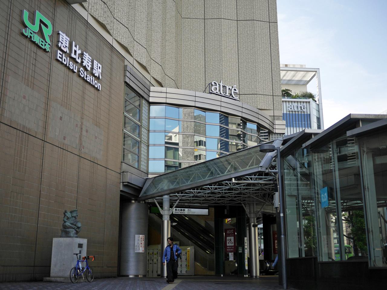恵比寿駅西口ゑびす像の前へ