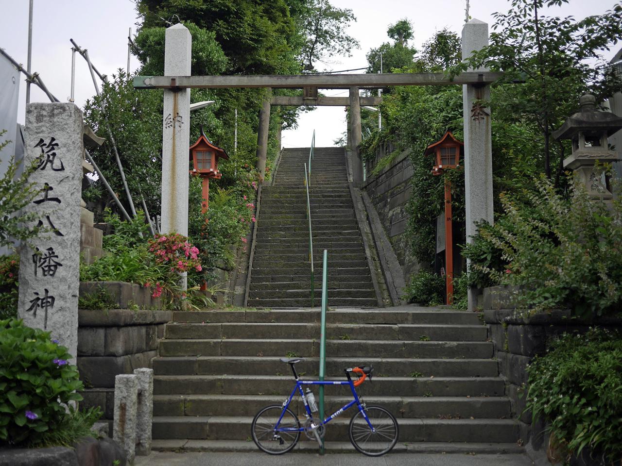 平将門が首が祀られていたという筑土八幡神社