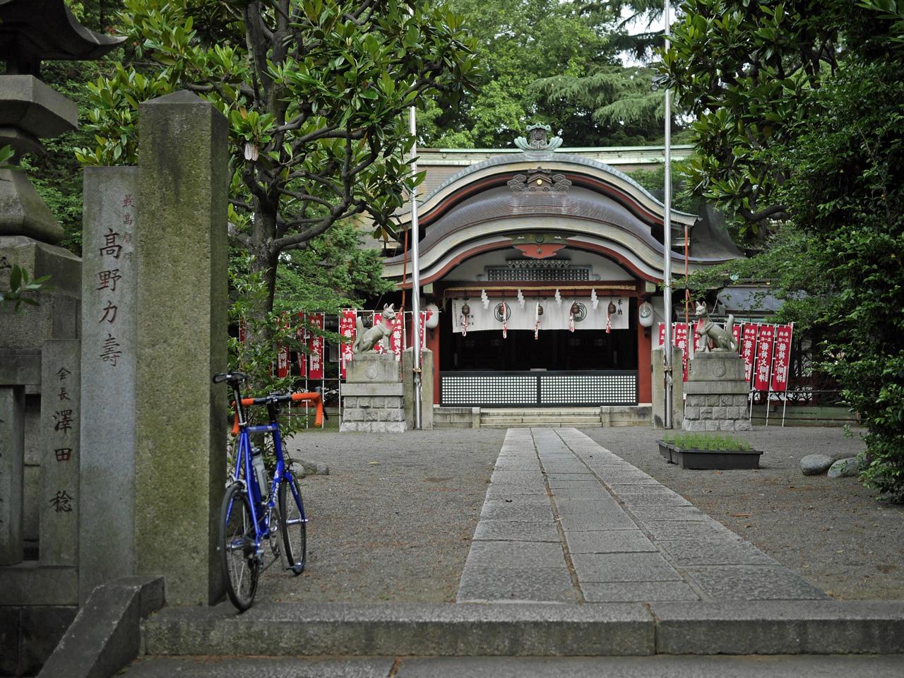平将門の征討祈願をされたという水稲荷神社