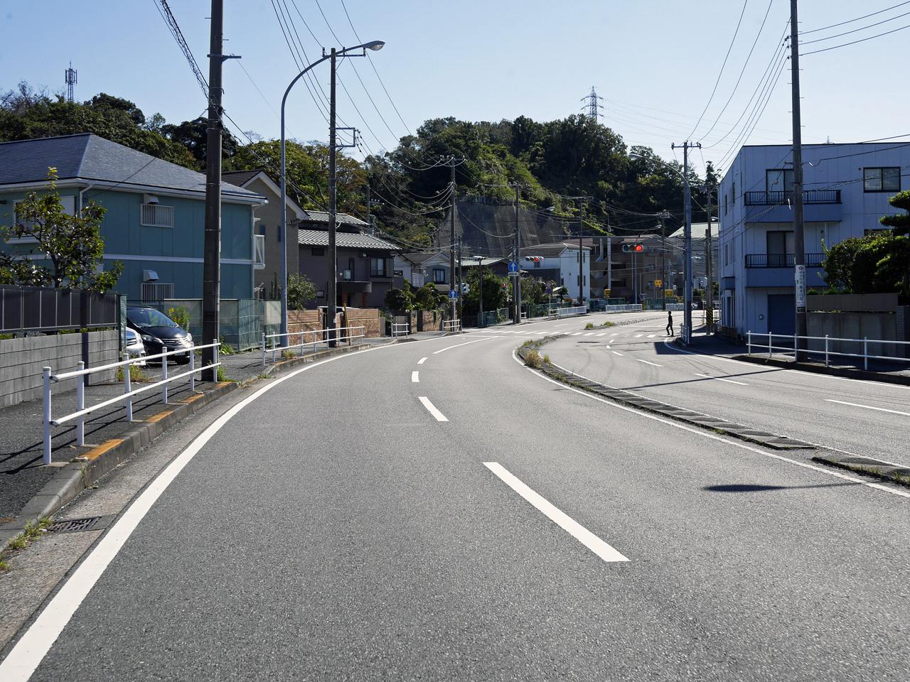笹下釜利谷道路から白山道方面へ