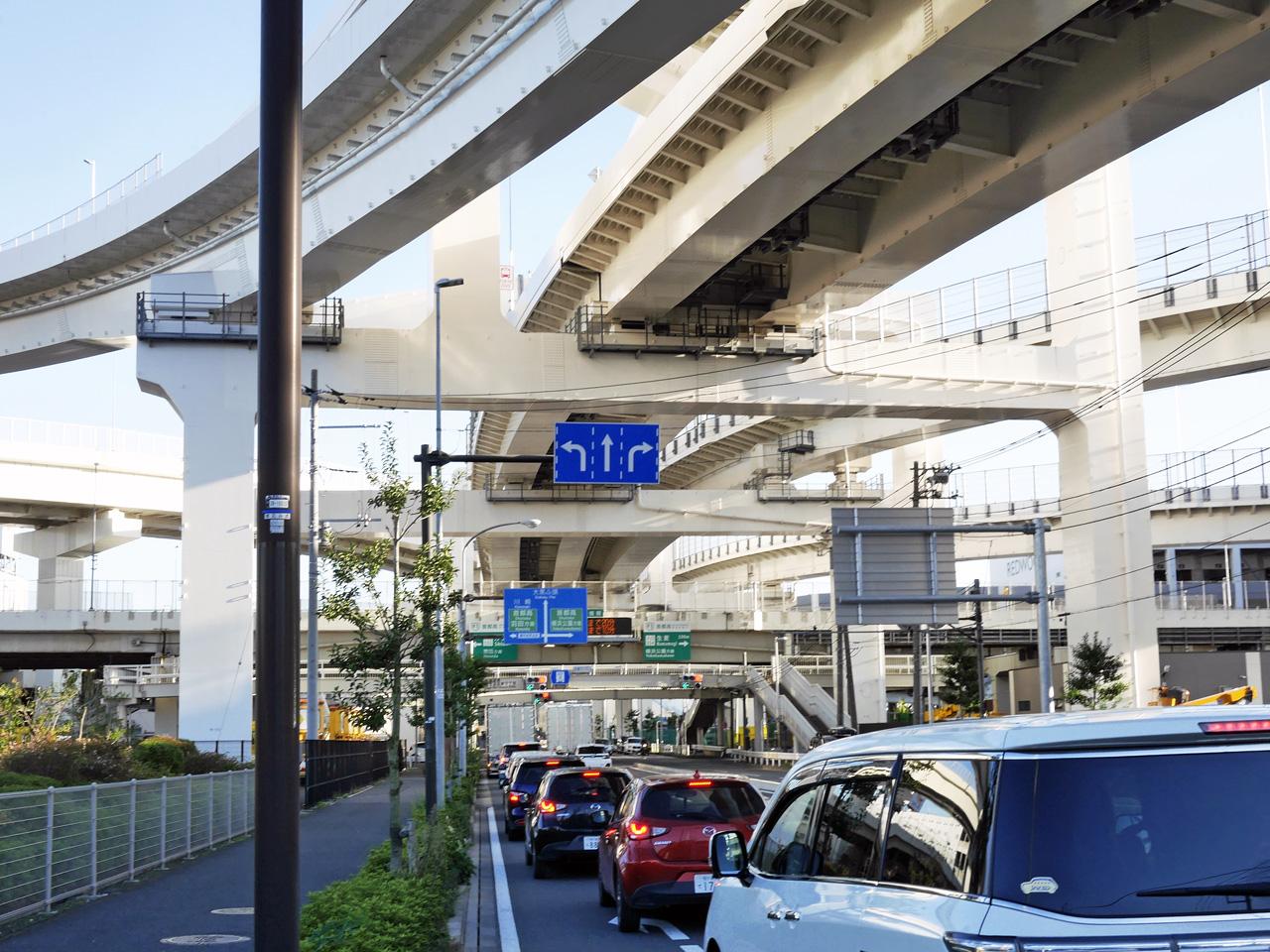 大黒で第一京浜から産業道路へ
