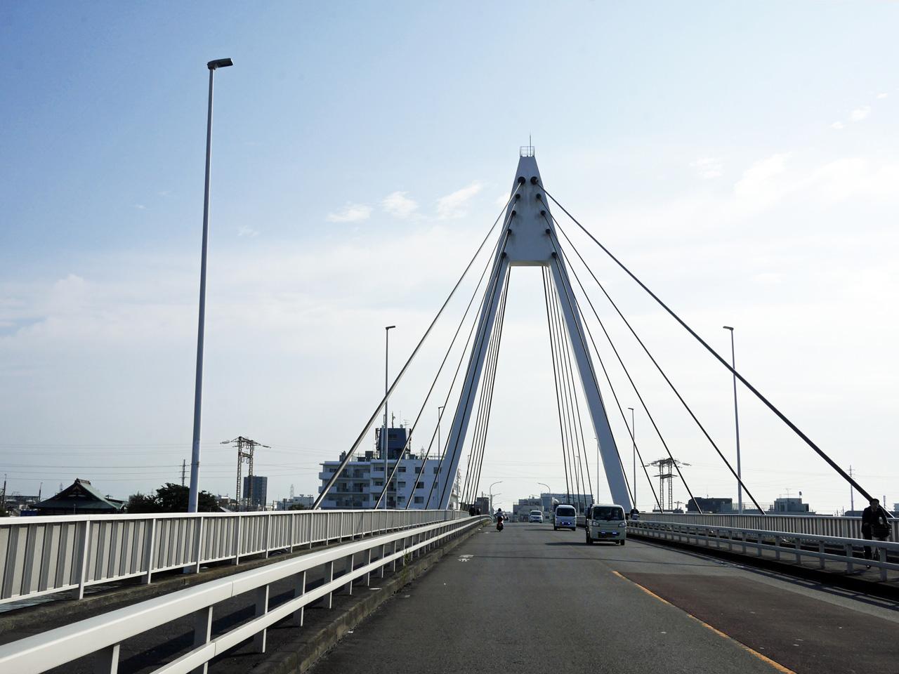 高砂橋で中川を渡河