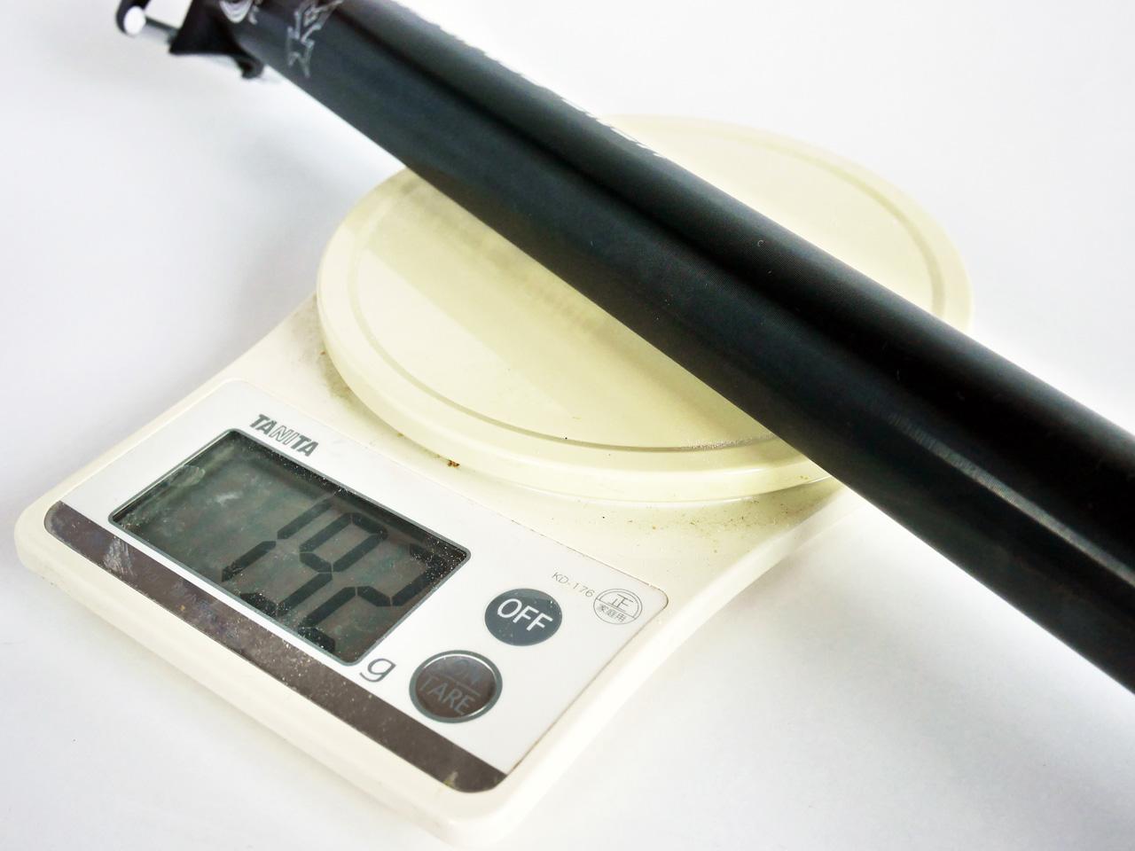 KCNC TI PRO LITE 31.6mm 重量計測