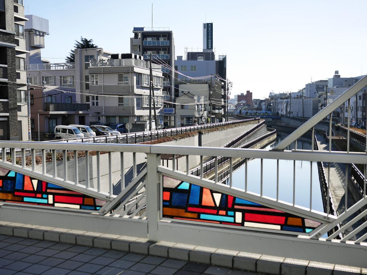京成橋を渡って北十間川の左岸(北側)へ