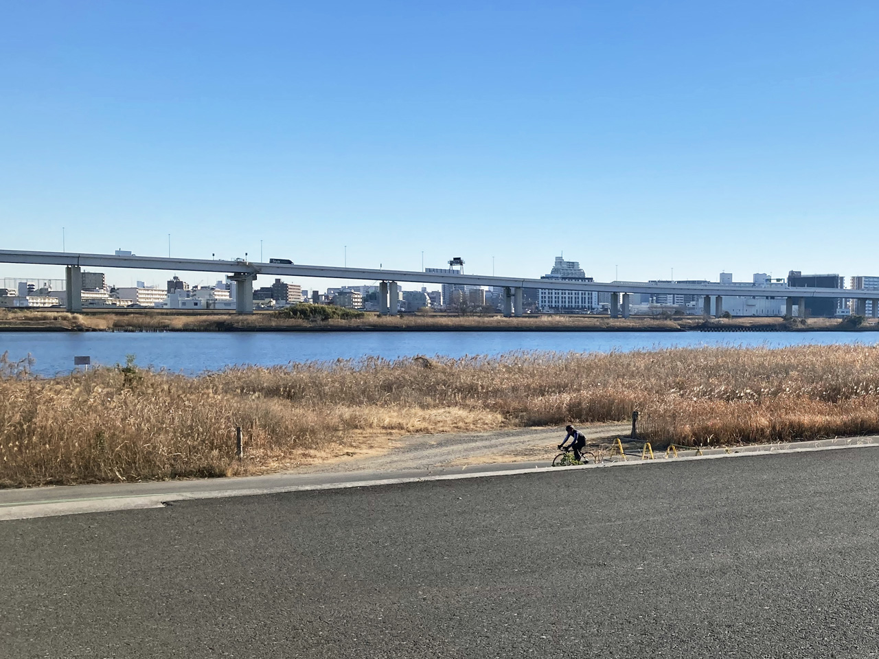 木下川排水機場の東は荒川の右岸