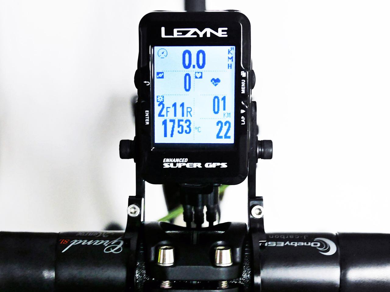 LEZYNE SUPER GPS シフトインジケーター表示