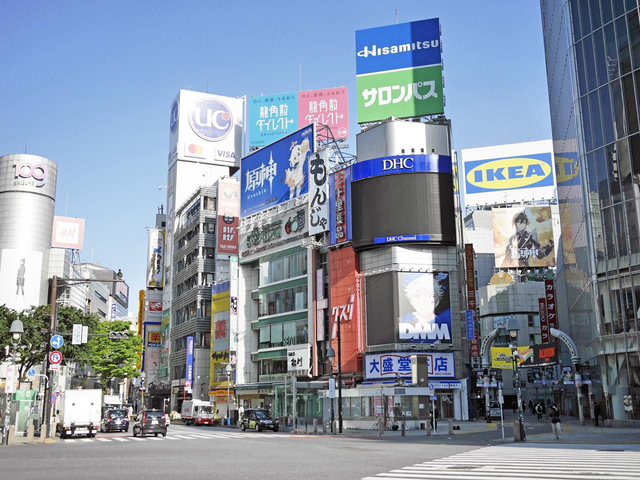早朝の渋谷駅前にディストピア感は皆無