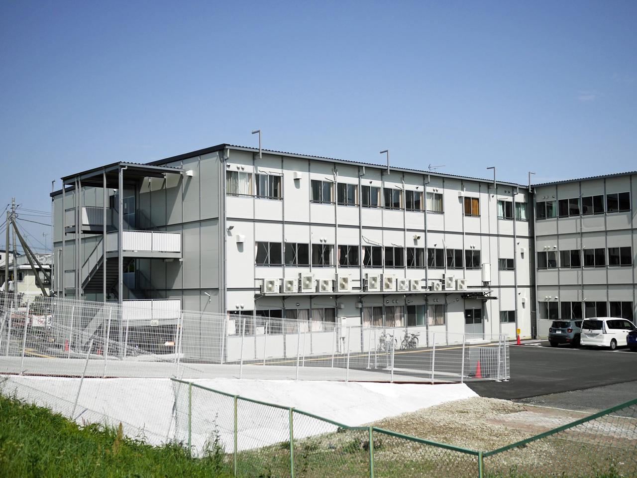 日野高校のプレハブ仮設校舎