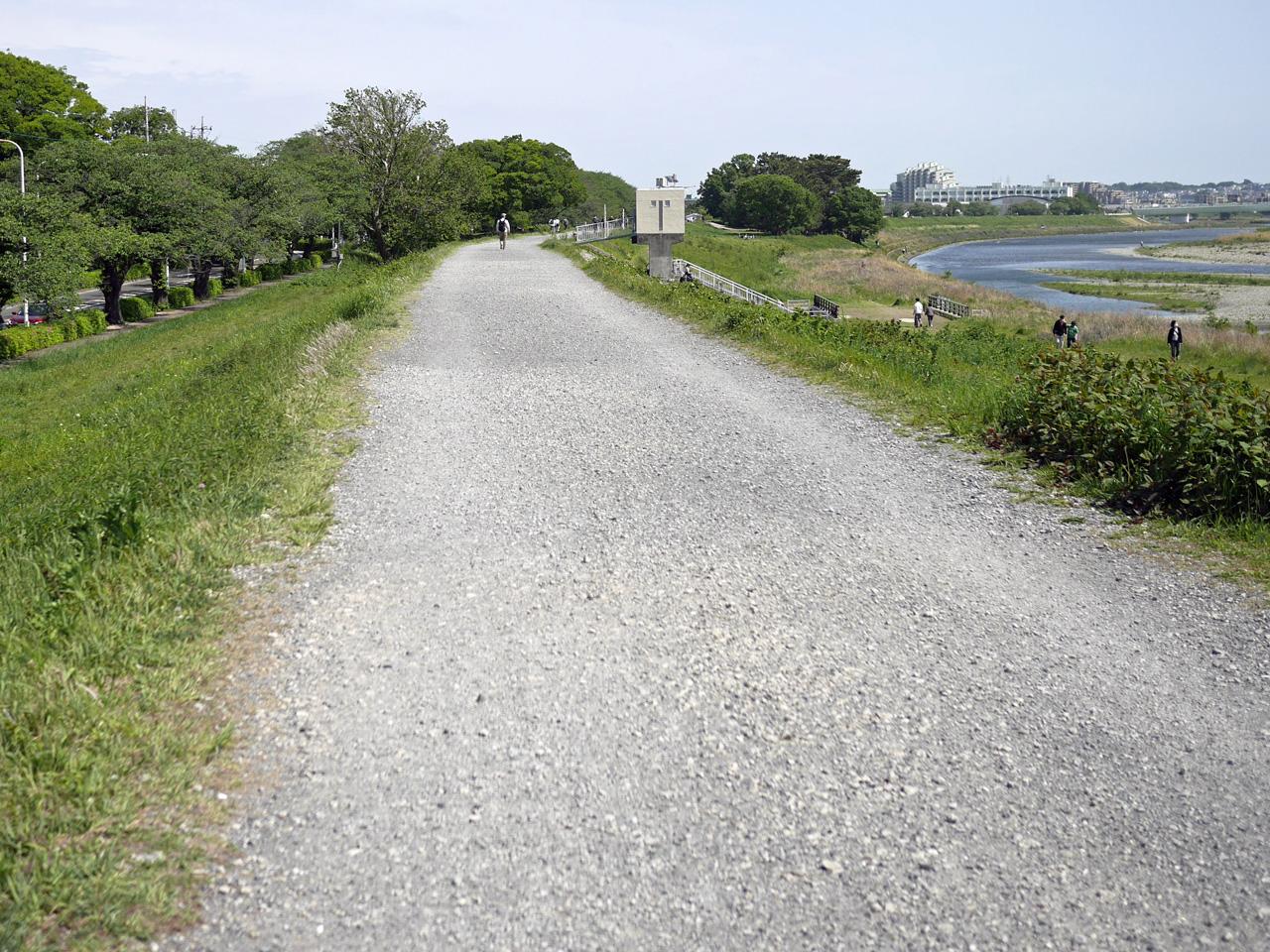 多摩川左岸は狛江市からグラベル化