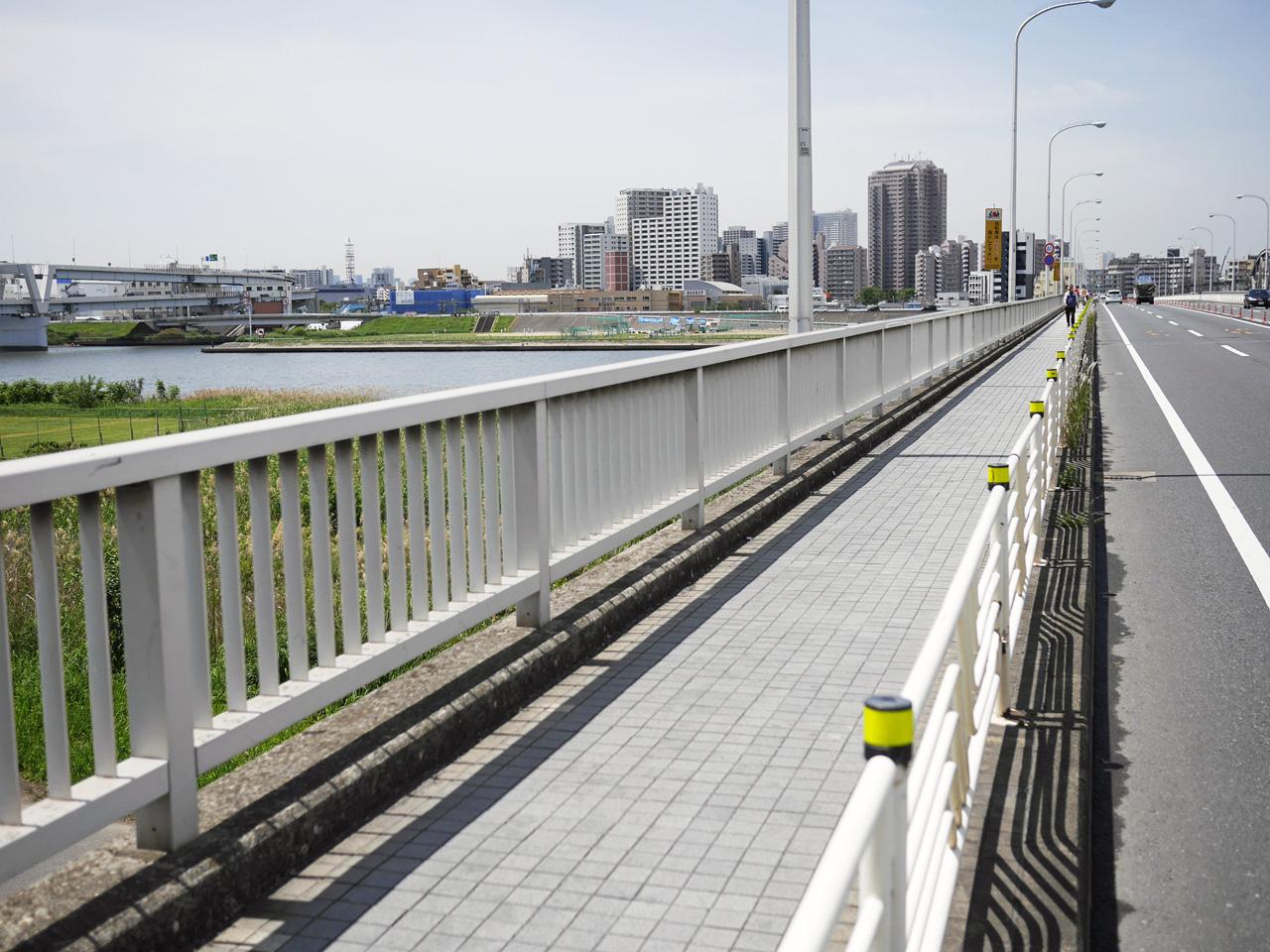 堀切橋で綾瀬川と荒川を渡河