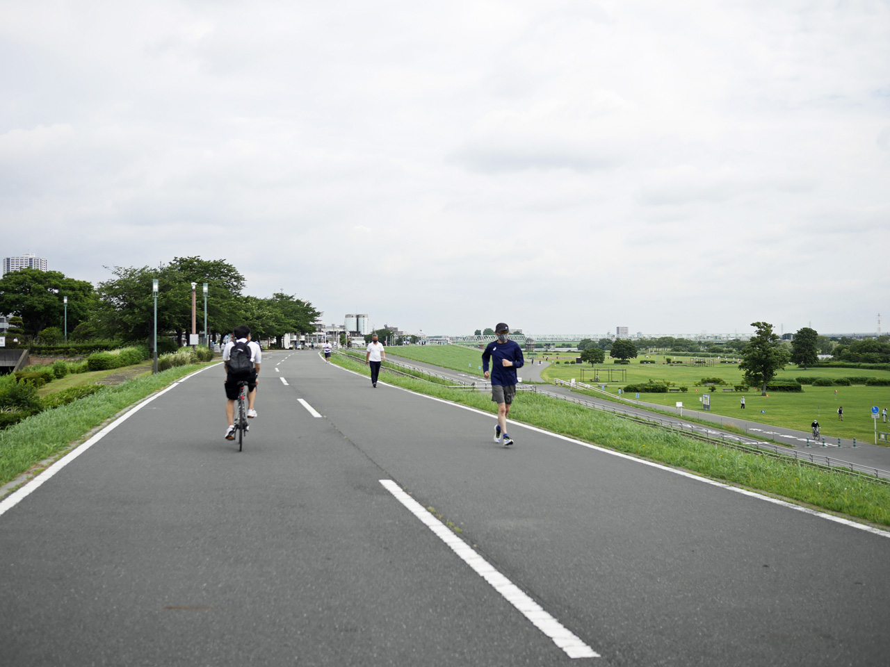 江戸川CRを遡上して柴又公園を通過