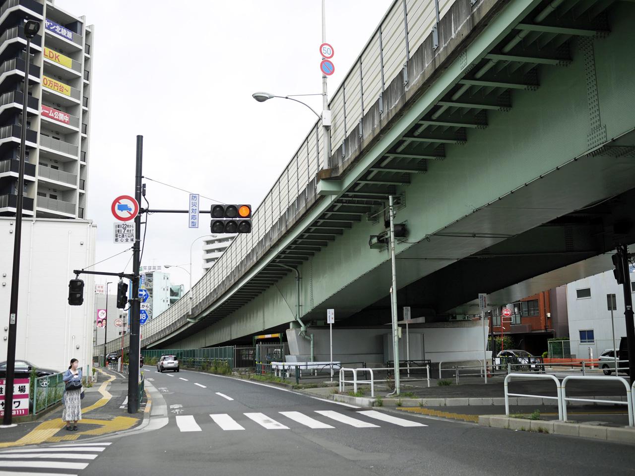 王子金町江戸川線から環七へ