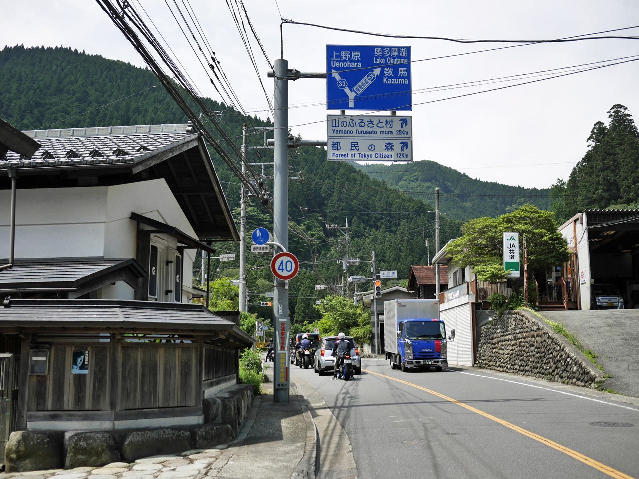 上川乗のY字路を右へ進む