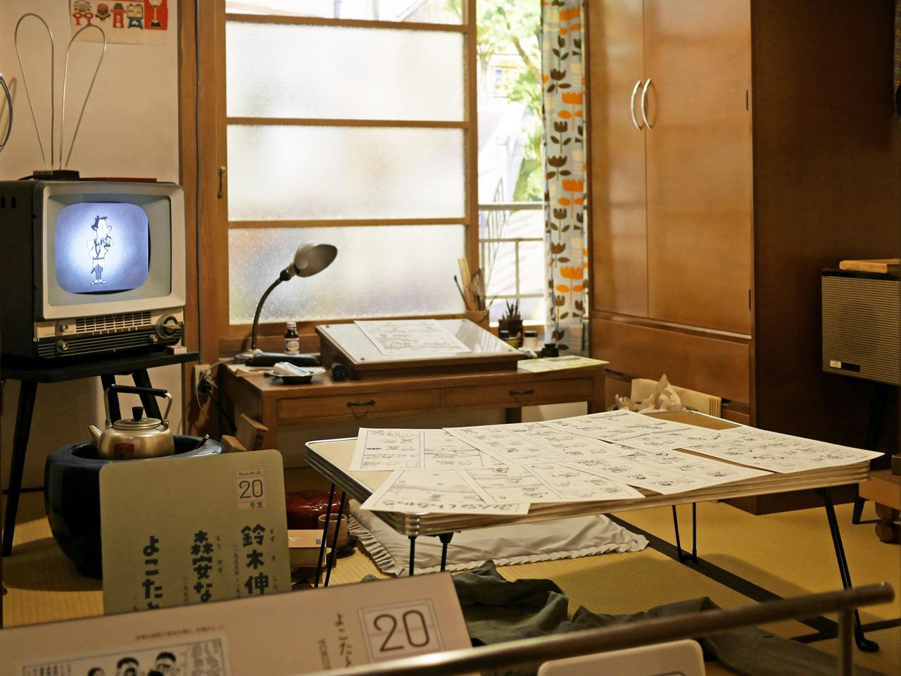 鈴木伸一と森保なおやが住んでいた部屋を再現