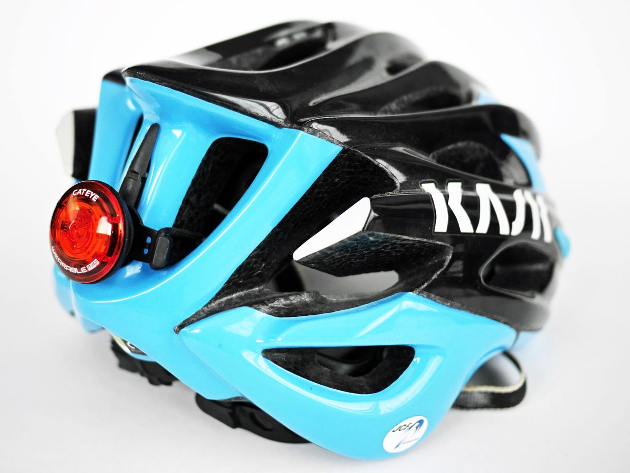 CATEYE WEARABLE MINI をヘルメット KASK MOJITO に装着