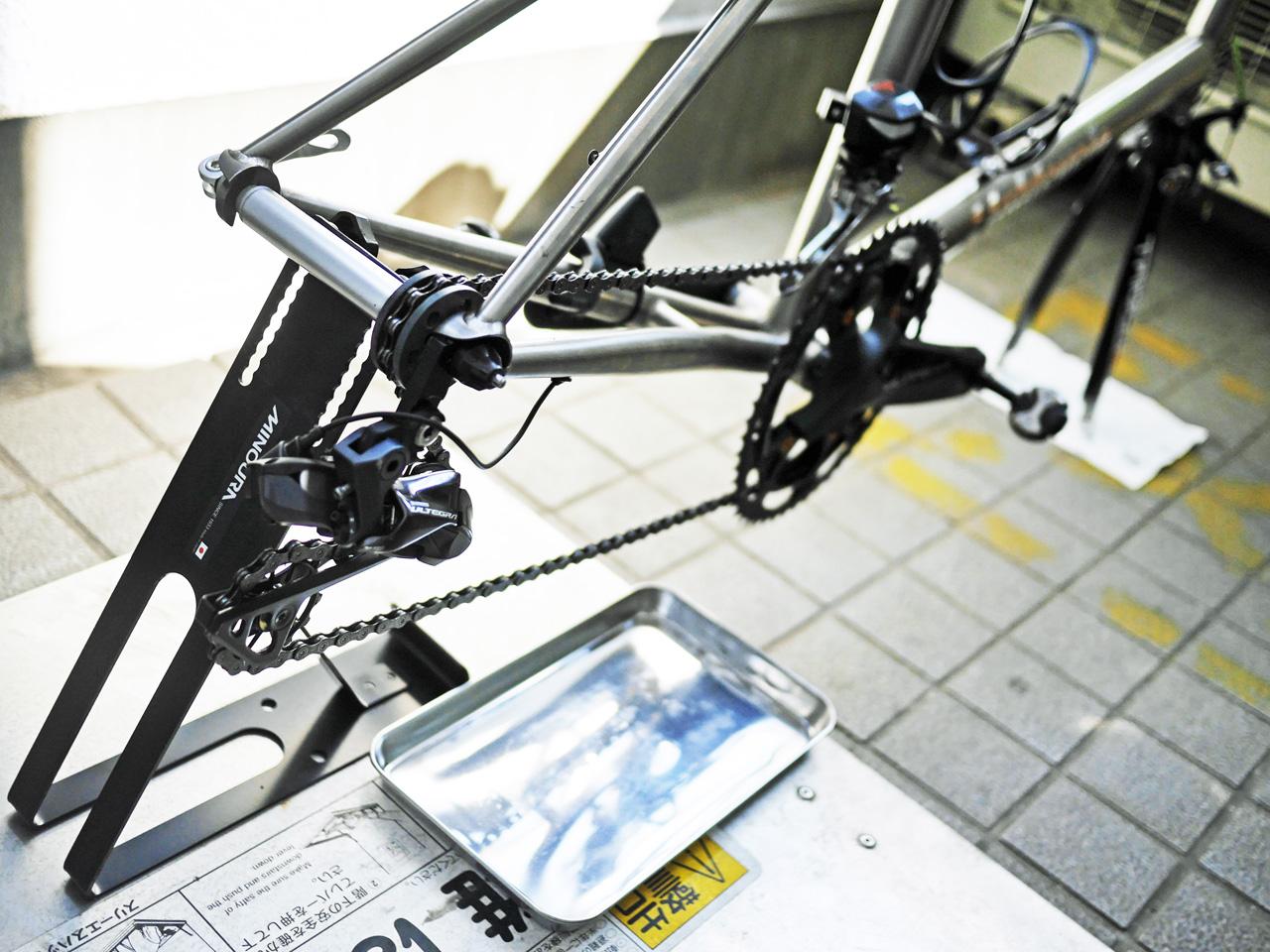 MINOURA リアエンドサポート3 に車体をセット