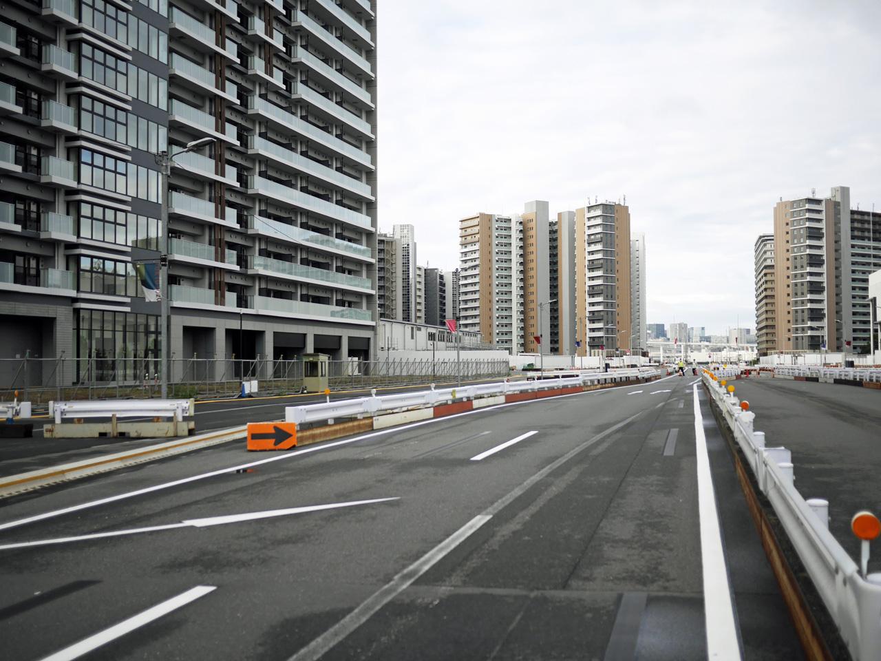 東京オリンピック選手村は解体工事中