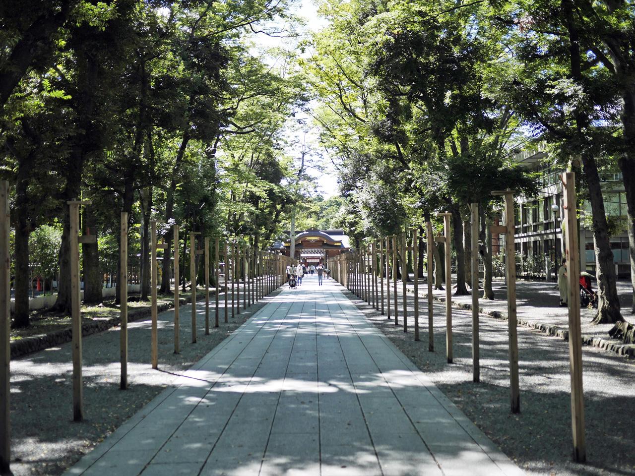 大國魂神社の参道を進む