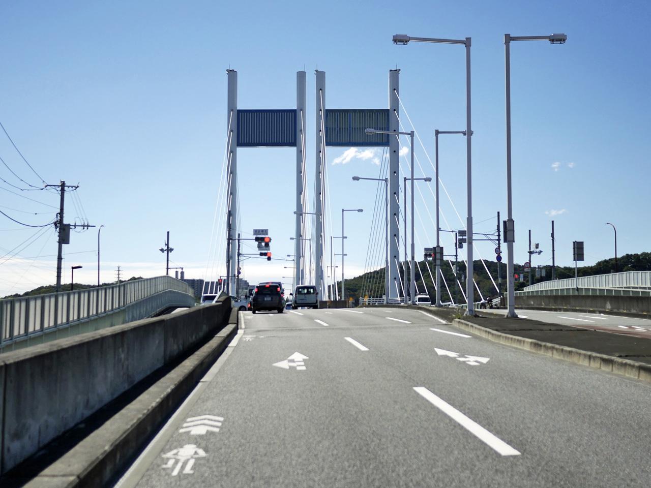 是政橋で多摩川を渡河して南下