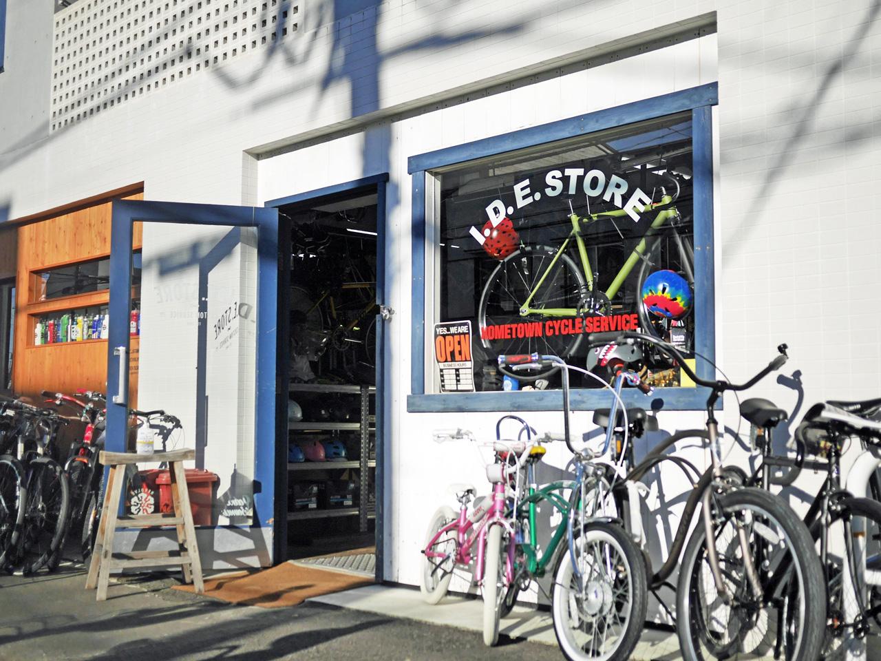 気さくな自転車店 I.D.E.STORE に立ち寄る
