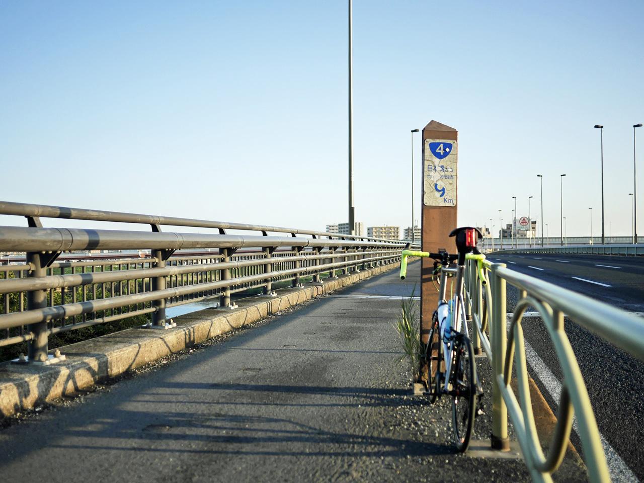 千住新橋で荒川を渡河して荒サイ左岸へ